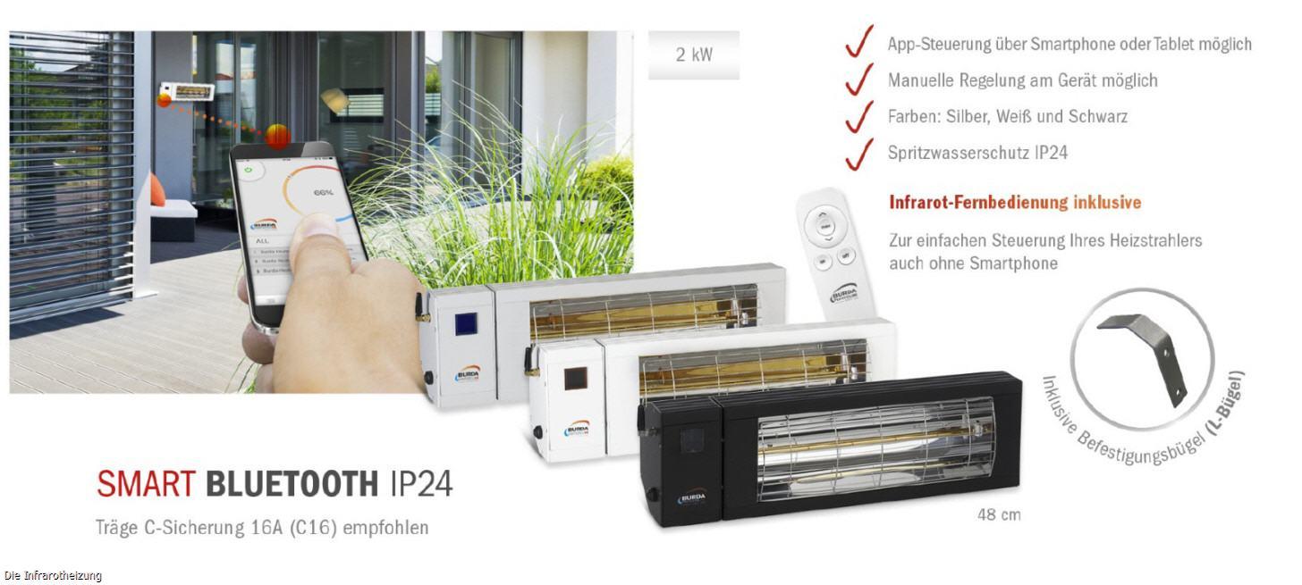 burda smart ip24 bluetooth terrassenstrahler. Black Bedroom Furniture Sets. Home Design Ideas