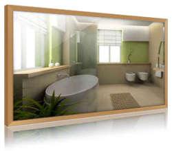 infranomic led spiegelheizung 600 w led line. Black Bedroom Furniture Sets. Home Design Ideas